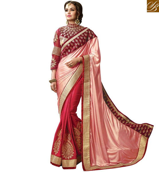 STYLISH BAZAAR ELEGANT DESIGNER RECEPTION WEAR SARI BLOUSE PATTERN RTMYS6028