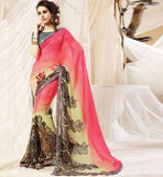 BUY ULTRA COOL CASUAL PRINTED DESIGNER SAREE AT ECONOMICAL RATE