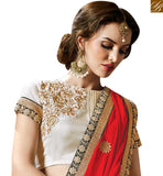 STYLISH BAZAAR PRESENTATION ENTICING BRIDAL HEAVY EMBROIDERED SARI BLOUSE PATTERN RTMYS6031
