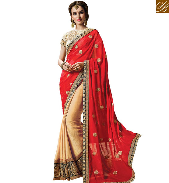 STYLISH BAZAAR ENTICING BRIDAL HEAVY EMBROIDERED SARI BLOUSE PATTERN RTMYS6031