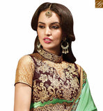 STYLISH BAZAAR PRESENTATION EXQUISITE DESIGNER INDIAN EMBROIDERED SAREE FOR WOMEN RTMYS6032