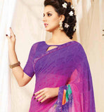 PINK & PURPLE SARI BLOUSE COMBO AT AFFORDABLE PRICE