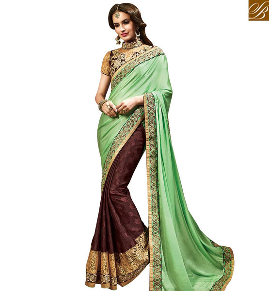 STYLISH BAZAAR EXQUISITE DESIGNER INDIAN EMBROIDERED SAREE FOR WOMEN RTMYS6032