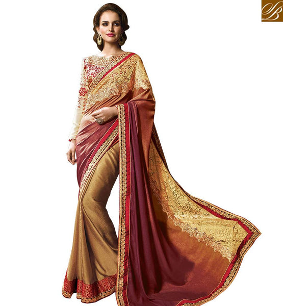 STYLISH BAZAAR GORGEOUS DESIGNER SARI ONLINE SHOPPING IN INDIA RTMYS6040