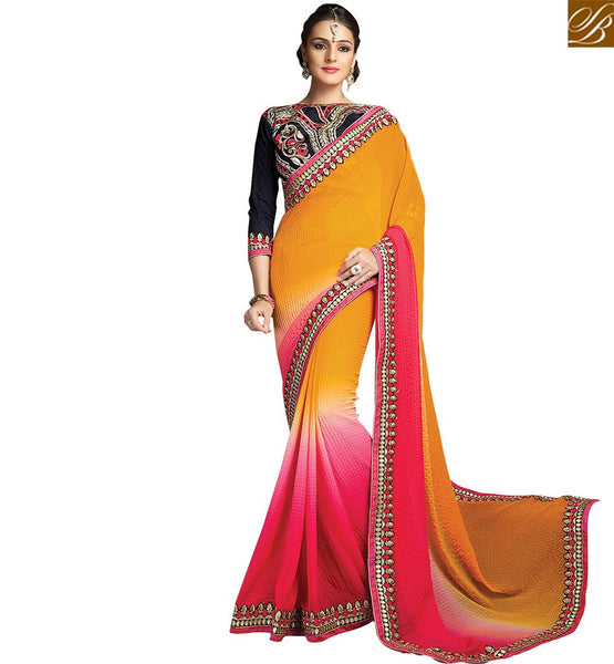 STYLISH BAZAAR INTRODUCES COMMENDABLE OCASSION WEAR SARI BLOUSE DESIGN RTCRM6046