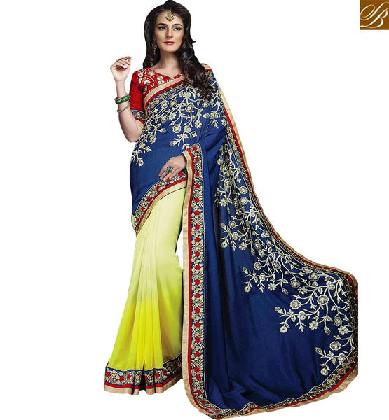 FROM THE HOUSE OF STYLISH BAZAAR CHARMING DESIGNER GEORGETTE SARI FOR SPECIAL EVENTS RTCRM6047
