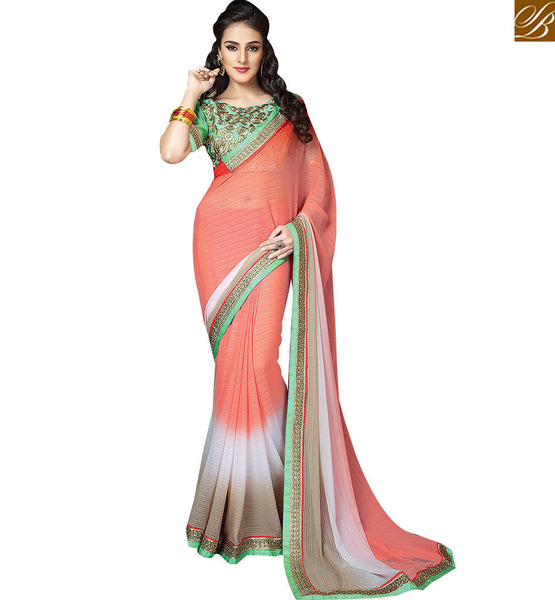 FROM STYLISH BAZAAR WELL DESIGNED OCCASION WEAR SARI RTCRM6054