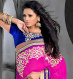 pure georgette party -wear saree  coming from the house of stylishbazaar