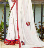 OFF-WHITE CASUAL WEAR SAREE RTAH607