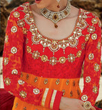 BOLD ORANGE ANARKALI KMV6608 KIMORA 6 608 | STYLISHBAZAAR