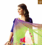 LATEST FASHION STRAIGHT FROM SURAT PRINTED SAREE WITH BLOUSE GREEN SARI WITH GOOD QUALITY MULTICOLOR PRINT AND ART-SILK CHOLI