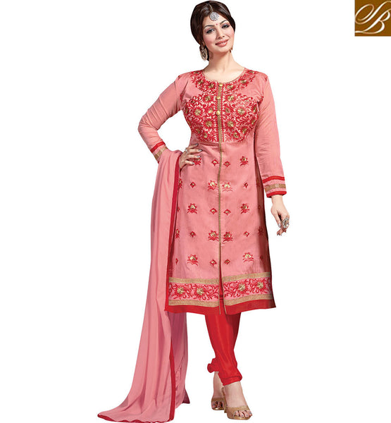 CRITICALLY ACCLAIMED MOVIE DOR FAME AYESHA TAKIA IN EXQUISITE DESIGNER SALWAAR SUIT VDAYE6109 BY PEACH