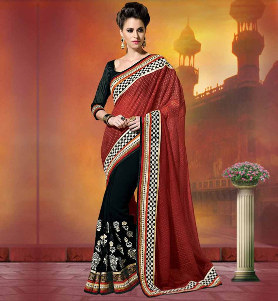 SILK BLOUSE PARTY WEAR SAREES ONLINE GEORGETTE FABRIC AND SILK BLOUSE INDIAN WEDDING SAREES