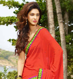 RED WITH PRINTED CASUAL WEAR SAREE RTAH615