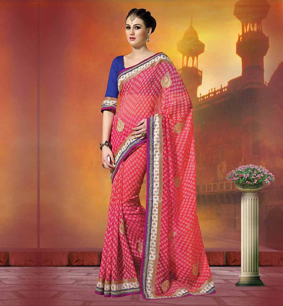 LATEST DESIGNER SAREES WITH HEAVY PATCH WORK  LATEST SAREE DESIGN HAS THE ABSTRACT WEAVING ON WHOLE FABRIC