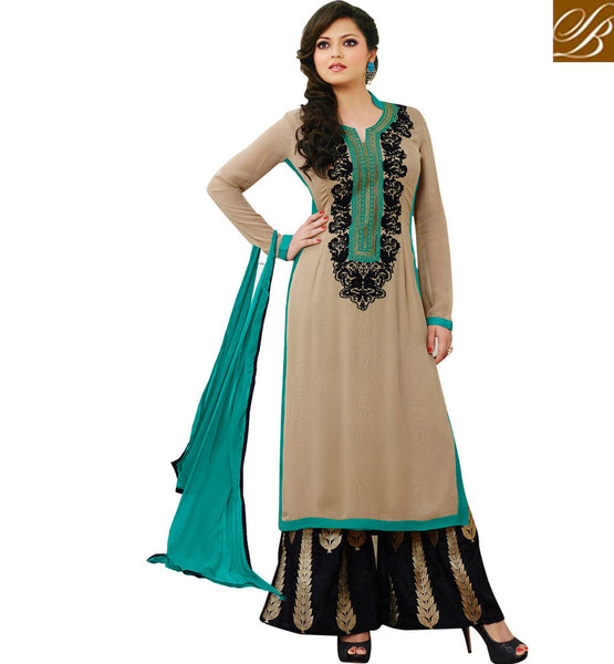 62005 LATEST FASHION IN WOMENS WEAR EMBRODIERED PLAZZO SALWAR