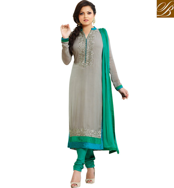 62007 MADHUBALA DRASHTI DHAMI NEW LOOK SALWAR SUIT DESIGNER BACK SIDE