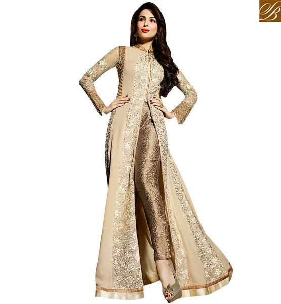 STYLISH BAZAAR MALAIKA ARORA KHAN MESMERISING SLIT CUT PARTY WEAR SALWAAR KAMEEZ GLMAK6201