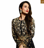 BROUGHT TO YOU BY STYLISH BAZAAR BOLLYWOOD DRESS MALAIKA ARORA KHAN MYSTIC BLACK SLIT SALWAAR SUIT WITH HEAVY WORK GLMAK6203