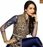STYLISH BAZAAR INTRODUCES BOLLYWOOD DRESS MALAIKA ARORA KHAN MAGNIFICENT BLUE SLIT SALWAAR SUIT GLMAK6206
