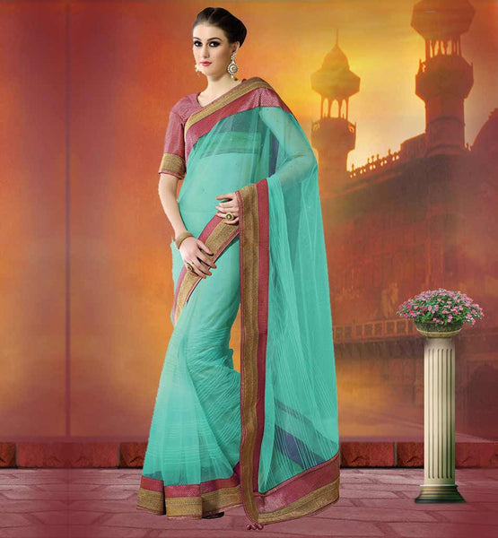 STYLISH LINEN FABRIC DESIGNER SAREES ONLINE  LATEST SAREE DESIGNS DECORATE WITH STRIP WEAVING ON BOARDER LINE