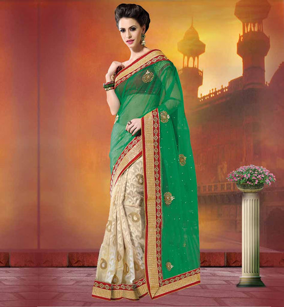 LOVELY PARTY WEAR BANARASI SAREES ONLINE LATEST SAREE DESIGNS COME WITH MAROON ART SILK  FABRIC BLOUSE