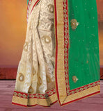 TOTALLY NEW FLORAL & KERRY STYLE WEAVING IN SAREE WORLD LOVELY PARTY WEAR BANARASI SAREES ONLINE