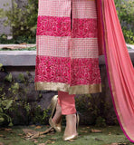 DUSTY PINK PURE GEORGETTE TOP WITH MATCHING SANTOON SALWAR AND PURE NAZNEEN ODHNI NEW FASHION PUNJABI SALWAR KAMEEZ SUITS FOR WOMEN