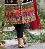 PURE GEORGETTE KAMEEZ HAS RICH EMBROIDERY WORK ALL OVER IT AND COMES WITH SANTOON BOTTOM LATEST DESIGN INDIAN SALWAR SUIT AT AFFORDABLE RATE