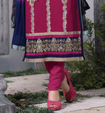 STUNNING SHADED PURE NAZNEEN DUPATTA ADDS CHARM TO THIS PARTY WEAR GARMENT WOMENS EVERSTYLISH ETHNIC SALWAR SUIT DESIGN