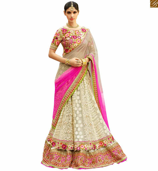STYLISH BAZAAR INTRODUCES ELOQUENT HEAVILY EMBROIDERED 3 PIECE BRIDAL LEHENGA CHOLI RTHYD6800