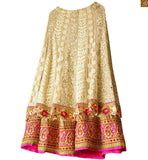 FROM THE HOUSE  OF STYLISH BAZAAR ELOQUENT HEAVILY EMBROIDERED 3 PIECE BRIDAL LEHENGA CHOLI RTHYD6800