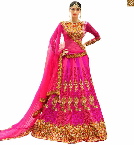 STYLISH BAZAAR STRIKING PINK WEDDING WEAR GHANGHRA CHOLI RTHYD6801