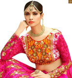 A STYLISH BAZAAR STRIKING PINK WEDDING WEAR GHANGHRA CHOLI RTHYD6801
