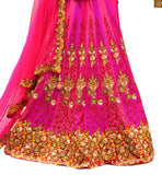 FROM THE HOUSE  OF STYLISH BAZAAR STRIKING PINK WEDDING WEAR GHANGHRA CHOLI RTHYD6801