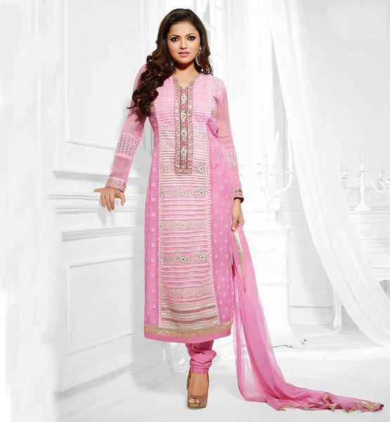 DRASHTI DHAMI MADHUBALA LOVELY PINK PARTY WEAR PAKISTANI STYLE DRESS