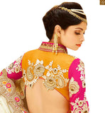 FROM STYLISH BAZAAR RAVISHING BRIDAL WEAR ORANGE BLOUSE WITH PEACH LEHENGA RTHYD6806