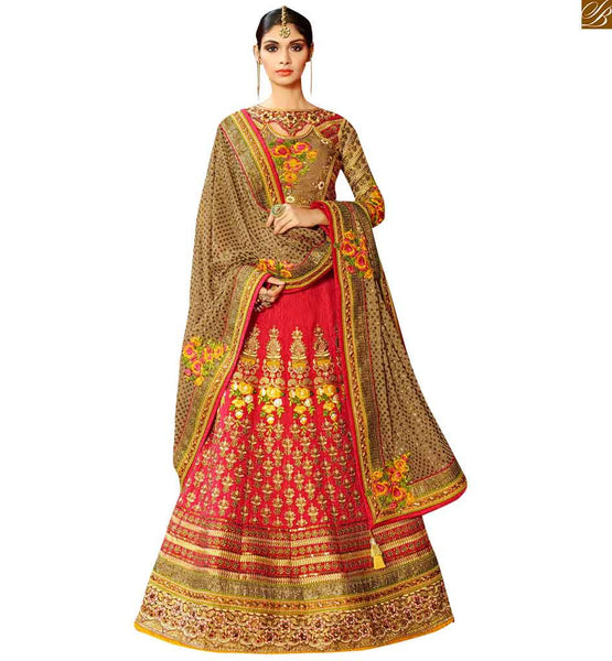FROM THE HOUSE  OF STYLISH BAZAAR WONDERFUL DESIGNER PINK LEHENGA CHOLI DESIGN RTHYD6807