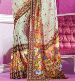 Pure Georgette Sahiba Sarees Surat Digital Printed Saree with Blouse Online Shopping India