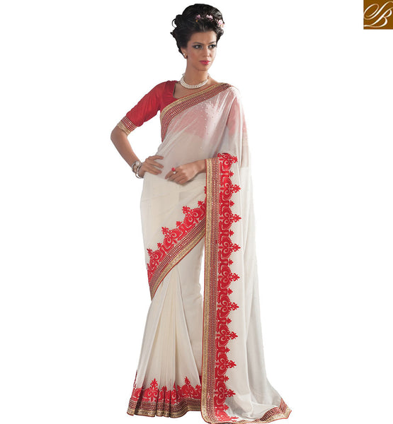STYLISH BAZAAR INTRODUCES PROMINENTLY DESIGNED DESIGNER GEORGETTE SAREE VDCLA6963