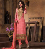 2015 DESIGN LADIES WEAR SALWAR KAMEEZ DRESS MATERIAL SHOP ONLINE PINK