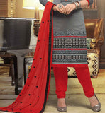 Look gorgeous in this cool office wear fashionable Banarasi Chanderi salwar kameez