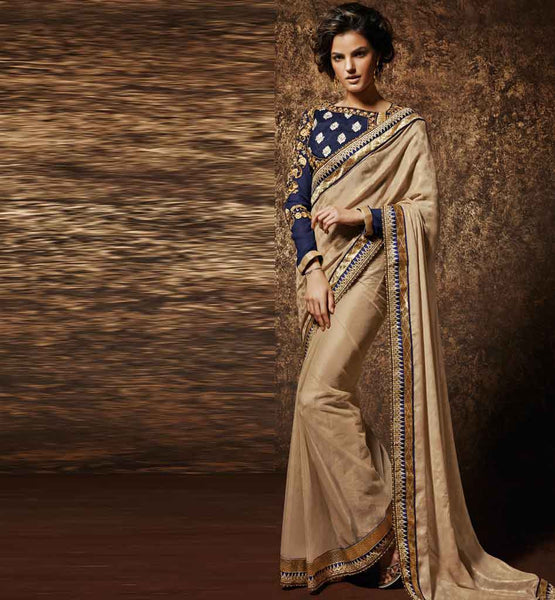 image of FANCY BLOUSE DESIGN OF BOLLYWOOD MOVIE STYLE DESIGNER SAREES ONLINE SHOPPING INDIA