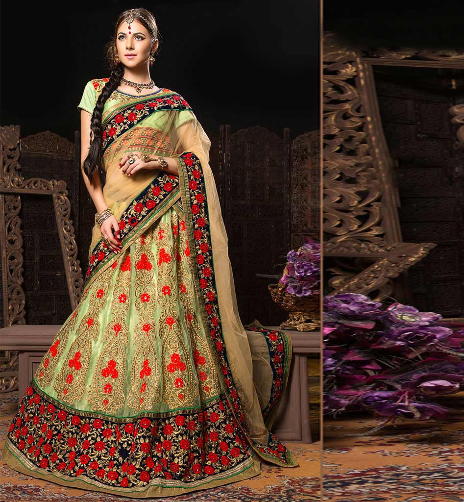 shop online designer indian bridal lehenga choli online from stylish bazaar. Black Bedroom Furniture Sets. Home Design Ideas