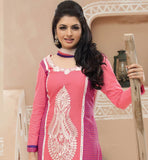 Bhagyashree pink cotton salwar suit online shopping stylish bazaar