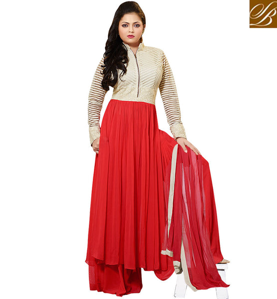 BOLLYWOOD ACTRESS IN PLAZZO SALWAR KAMEEZ SUIT DRASHTI DHAMI AKA GEET FROM GEET HUI SABSE PARAYI  DESIGNER DRESS