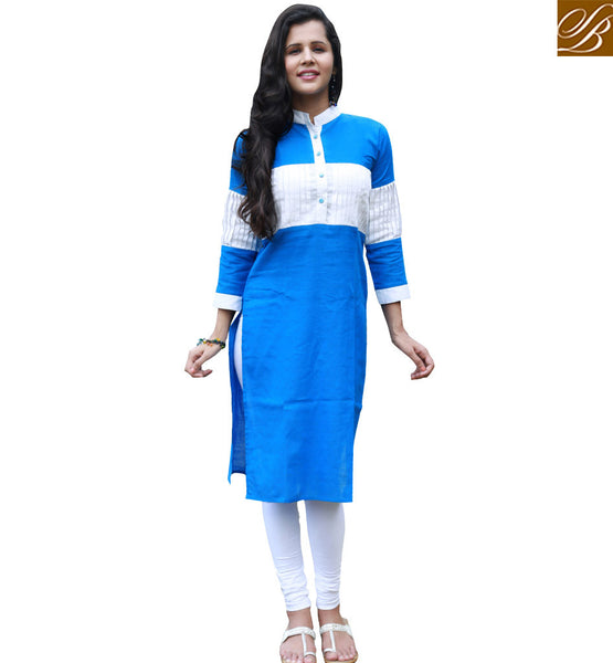 NICE KURTI DESIGN FOR PARTIES VDSUH7001 BY BLUE