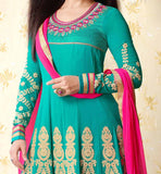 WOMENS PARTY WEAR INDIAN ANARKALI SALWAR SUIT SHOPPING