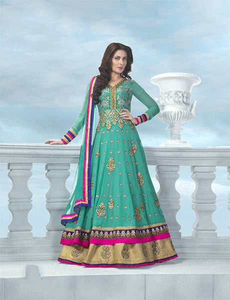 EXQUISITE PURE GEORGETTE ANARKALI SUIT 1529