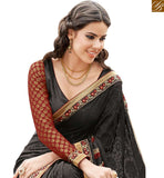 FROM THE HOUSE OF STYLISH BAZAAR ADORABLE BLACK DESIGNER SAREE AND BLOUE FOR PARTIES RTHTS7006